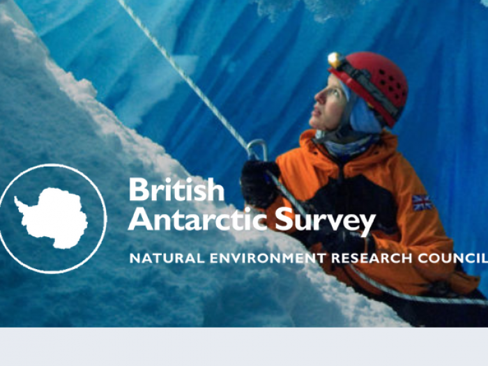 """screenshot of British Antarctic Survey's homepage that says """"Natural Environment Research Coucil"""""""