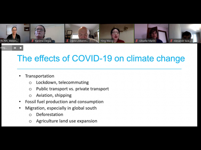 screenshot of Sept webinar, has people in a bar at the top, most of screen is shared ppt with title